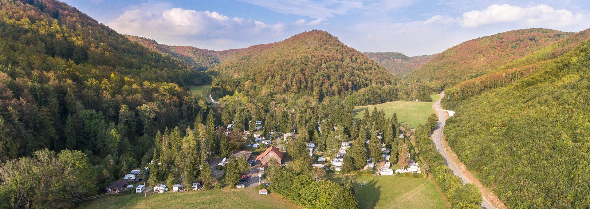 Campingplatz Luftbild